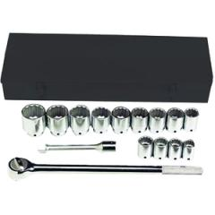 3/4 Inch Standard Drive Set, Fractional - 15 Piece - 12 point - Standard and Heavy Duty, Size Range - 7/8