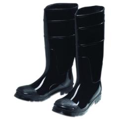 Black PVC Steel Toe Boot, Size - 13