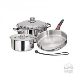 Magma Stainless Steel Nesting RV Cookware, 7 Pc