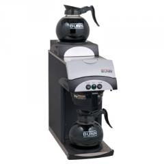 Pourover Coffee Brewer w/ 2 Warmers, Black, 12 cup, 120 V