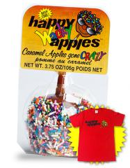 Wacky Caramel Apples with Sprinkles 24 Apples With
