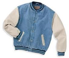 Port Authority® - Denim and Twill Letterman Jacket