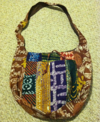 African Ghanaian African Cloth Book Bag