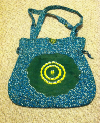 Green Hand Dyed Batik Cloth Handbag