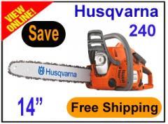 Husqvarna 240 Chainsaw W 14 in Bar & Chain