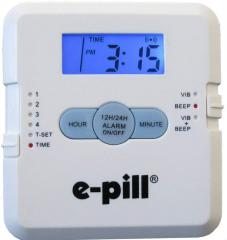 Compact e-pill Pill Dispenser 4 Vibrating Daily