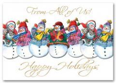 Jolly Snowmen Holiday Card