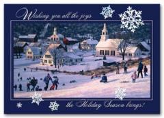 Sledding Fun Holiday Card