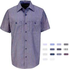 Red Kap (R) - SP24EX Gray and Blue Short sleeve Work Shirt