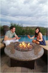 Oriflamme Fire Pit Table Tropical Elegance