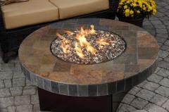 Oriflamme® Fire Table Santa Fe Mosaic Stone Gas