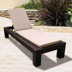 NCI- Melrose Wicker Chaise Lounge