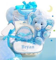 Blue Elephant Gift Basket