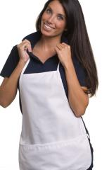 Utility Apron With Botton Puuch Twill Fabric
