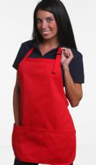 Med Length Apron With Pouch Twill Fabric Full