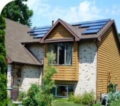 Roof mounting residential solar panels