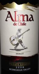 Alma DeChili Merlot wine