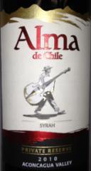 Alma de Chile Syrah Wine