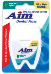 Aim Dental Floss Mint Waxed Nylon 100 + 20yds