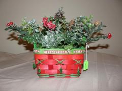 Christmas Light Basket