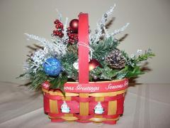 Penguin Basket Christmas Arrnagement
