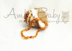 Amber Necklace Olive Beads- Riley