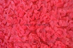 Coral Knit Rosette Fabric