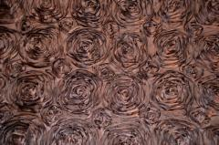 Chocolate Brown Color Satin Rosette