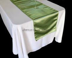 Lime Green Bridal Satin Table Runner