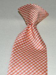 Boys silk clip tie, 100% silk necktie