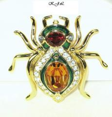 Kenneth Jay Lane Jeweled Spider Brooch