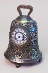 J.E.Caldwell Cast Brass Bell Clock