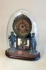 Ansonia Double Statue Clock