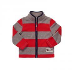 Sporty Striped Fleece Jacket