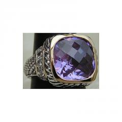 A Lighter Purple Celebrity Yurman Ring