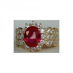 A Ruby / Diamonds Ring