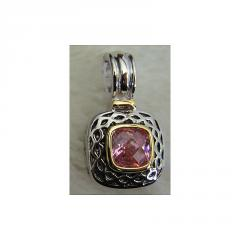 A Classic Pink Sapphire Pendant
