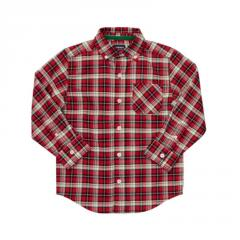 Red Plaid Woven Shirt