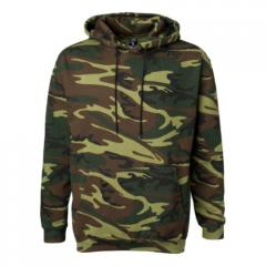 Green Woodland Camouflage Pullover Hooded