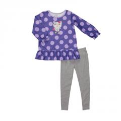 Polka Dot Fleece 2-Piece Tunic Pj's