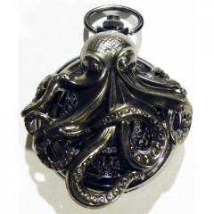 Steampunk Gothic Black Octopus Pocket Watch