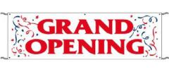 Grand Opening Banner 3'x10'