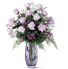 Teleflora's Crystal Butterfly Bouquet