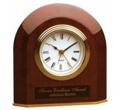Beveled Arch Desk Clock