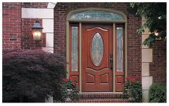 Classic-Craft Mahogany Fiberglass Entry Door