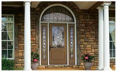 Classic-Craft Canvas Fiberglass Entry Door