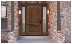 Classic-Craft Rustic Fiberglass Entry Door