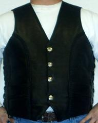 Men's Black Vest, Item # 520