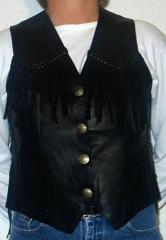 Ladies Black Vest, # 420BB