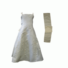 Handmade Sleeveless Dress with Shawl